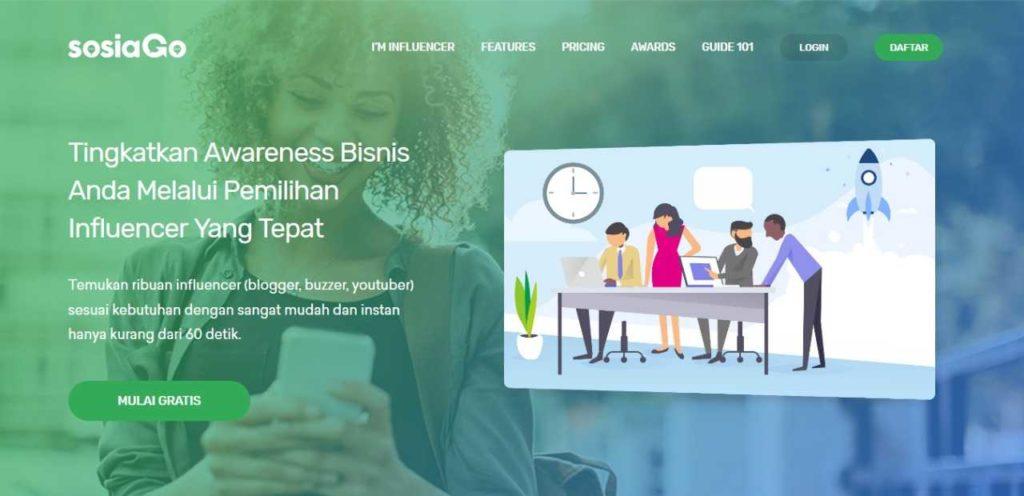 SOSIAGO - Influencer Marketing Buzzer Network Promotion