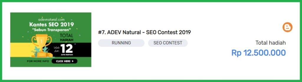 #7. ADEV Natural - SEO Contest 2019
