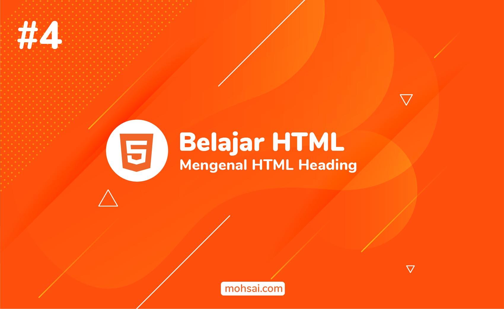 Tutorial membuat judul dengan HTML Heading